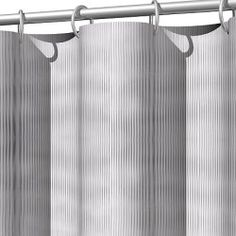 Eco-friendly and elegantly beautiful, this ribbed shower curtain will brighten up your bathroom decor instantly. Use warm water and mild soap to clean every 3 months. Hotel Shower Curtain, Mild Soap, 3 Months, Eco Friendly, Curtains, Warm, Bathroom, Beautiful, Design