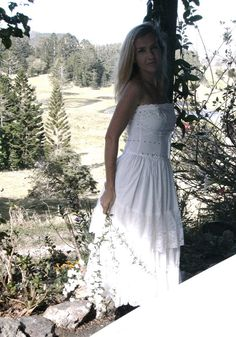 Sweet country white lace dress upcycled wedding by cypressavenue, $135.00