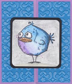 Bird Crazy Blue Gate Fold by gobarb26 - Cards and Paper Crafts at…
