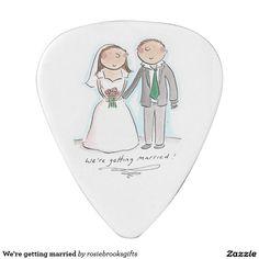 We're getting married guitar pick