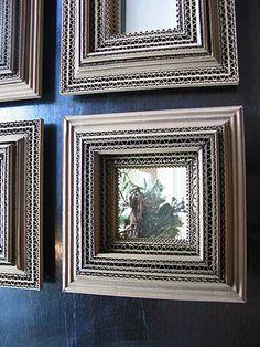 Carton Noir -MIROIRS - Cécile Chappuis : pièces uniques en carton. Miroirs, encadrements, luminaires, objets