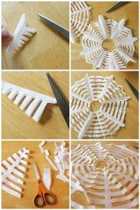DIY Halloween Crafts - Coffee Filter Spiderweb