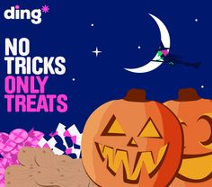 To celebrate Halloween this week we have a surprise gift for ding* customers!!! All will be revealed very soon  #notricksonlytreats https://www.ding.com/