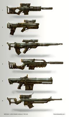 Assault Rifles by TomEdwardsConcepts