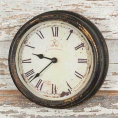 Cafe Gray Wall Clock Country Farmhouse Rustic Vintage Distressed #Unbranded #Farmhouse