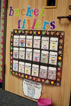 """Found this cute idea from First Grade Parade...Kids can write sweet notes to """"fill each other's buckets."""""""