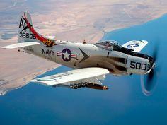 (Modex #500) Douglas A-1H Skyraider (AD-6) (NX39606) Tail Code (AH) Biult 1955 - Owned by Bob Grondzik - Camarillo Airport (KCMA - CMA) Camerillo, California - 29 Aug, 2005 (5)