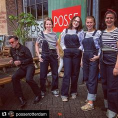 Repost All the girls in our Heather Bib.going for some heavy duty😉 Rugged Style, Raw Denim, Rotterdam, Workwear, Denim Fashion, Insta Pic, Videos, Overalls, Brother