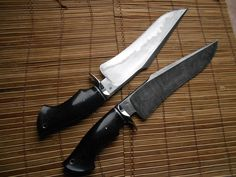 Twin Sam Lurquin Tsavo Bowie Knives, for all your zombie killing needs.