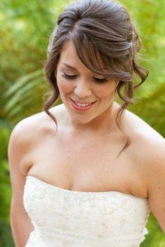 Medium Length Bridal Hairstyles. Make your hair as beautiful as your wholesale diamonds! [ 1diamondsource.com ] #hair #diamond #quality