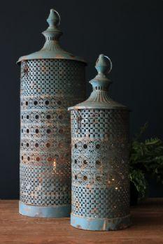 Rhiad Blue Lanterns Set of 2