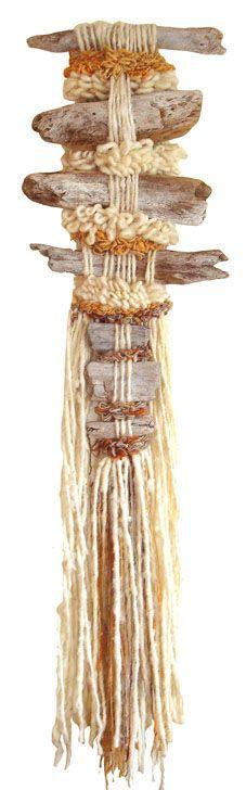 La Pachamama Alba  por Marianne Werkmeister Weaving Textiles, Weaving Art, Tapestry Weaving, Loom Weaving, Hand Weaving, Fabric Art, Fabric Crafts, Textile Design, Textile Art