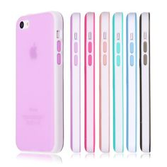 Soft Silicone Translucent Rubber Bumper Matte Gel Case Cover for iPhone 5C #Unbranded #iphone5c,