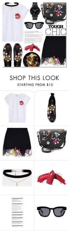 """Flower sneakers"" by bibibaubau ❤ liked on Polyvore featuring Marc Jacobs, Fendi, Sophie Hulme, ASOS, Elizabeth Arden, Arche, Grey Ant, The Horse and sneakers"