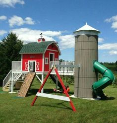 Farm and silo playhouse for the kids one day!