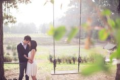 Dreamy rope swing engagement shoot by This Love Of Yours Photography