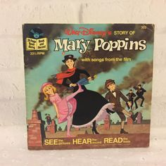 Walt-Disney-Mary-Poppins-Read-Along-Book-and-Record-1977