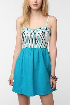 UrbanOutfitters.com > Staring at Stars Color Pop Embroidered Sundress
