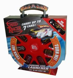 Hot Wheels Speed Racer Red Carrying Case Launcher Plus Bonus of One 1:64 Scale Die Cast Car - GRX by Hot Wheels. $29.95. Case carry up to 7 cars. Includes : Red Carrying Case Launcher Plus Bonus 1 Die Cast Car 1:64 Scale GRX. Store your accessories at the back of the case. Rotate rim to select car and push the button to launch. For age 3 and up. Hot Wheels Speed Racer Red Carrying Case Launcher Plus Bonus of One 1:64 Scale Die Cast Car - GRX