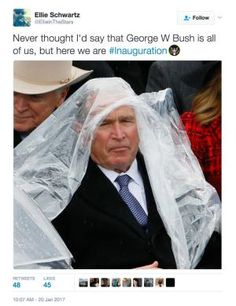 Funniest Donald Trump Inauguration Memes: George W. Bush Is All of Us