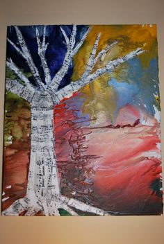 Musical Tree by MusickMakings on Etsy, $50.00  Crayon melting