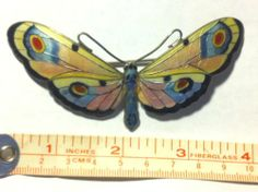 Huge Enamelled Sterling Butterfly from Norway Signed | eBay