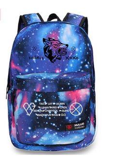 Kpop EXO Planet EXO-M EXO-K Luhan Wolf logo backpack