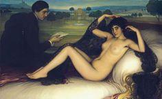 Julio Romero de Torres. 'Venus de la poesía', 1913. Óleo sobre lienzo, 93,2 x 154 cm. Museo de Bellas Artes de Bilbao. Depósito de la Diputación Foral de Bizkaia