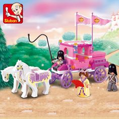 5.80$  Buy here - http://aliffw.shopchina.info/go.php?t=32714530215 - Sluban 0250 Building Friends Series Blocks for Girls Toy Royal Princess Carriage Wagon Compatible with Lego  #magazineonlinebeautiful