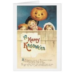 Old-fashioned Halloween Card - diy cyo customize create your own personalize