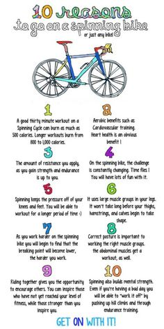10 reasons to go on a spinning bike...