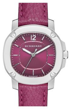 Burberry The Britain Leather Strap Watch, 34mm