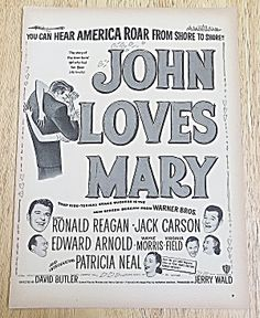 1949 John Loves Mary With Ronald Reagan