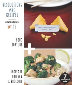 2015 Resolution Recipe #1: Good Fortune + Teriyaki Chicken and Broccoli, make your own homemade take-out dish! Luck will be on your side this year with this 7 PointsPlus meal.