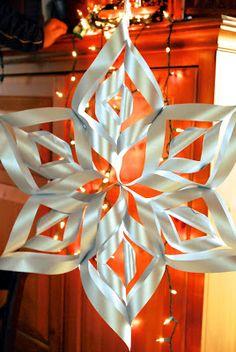 My Kitchen Escapades: Large Paper Snowflake Tutorial