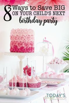 Who said having a child's birthday party has to break the bank? Check out these 8 ways to save on your child's birthday party that will make their day! :: todaysfrugalmom.com