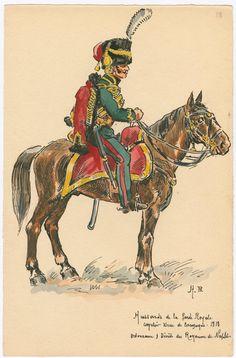 Naples; Royal Guard, Hussars, Hussar, Tenue de Campagne, 1813