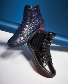Guess Men's Melo High-Top Sneakers - Black 11.5