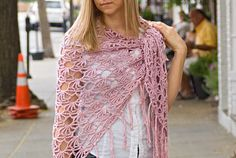 Buy crochet patterns to get great designs and support designers. This roundup shows the most popular Ravelry crochet patterns that can be bought online. Tunisian Crochet Free, Crochet Poncho, Knitted Shawls, Crochet Scarves, Crochet Clothes, Blanket Crochet, Ravelry, Shawl Patterns, Crochet Patterns