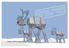 "Star Wars Christmas Art ""Merry Force Be With You"", #RaisingNerds, for my son"