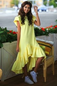 Summer Dresses 2019 Casual Loose Patchwork Sleeveless Ruffles O-Neck Mini Dress Fashion Women Dress Ukraine Vestidos Look Fashion, Hijab Fashion, Fashion Dresses, Womens Fashion, Fashion Design, Modest Dresses, Cute Dresses, Beautiful Dresses, Summer Dresses