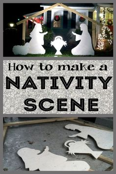 How to make a DIY nativity scene for your yard