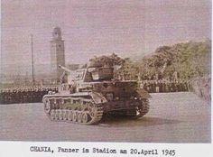 Ένα Panzer στο στάδιο Χανίων. Ίσως γιορτάζανε τα γενέθλια του Χίτλερ, είχε… Crete, Ww2, Gluten, Baking, History, Simple, Photos, Beautiful, Historia