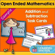 FREE open ended addition and subtraction tasks to introduce open ended mathematics problems to students.