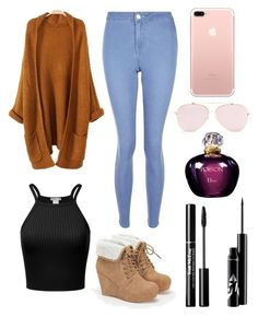 """""""Cozy"""" by amberdinser ❤ liked on Polyvore featuring interior, interiors, interior design, home, home decor, interior decorating, New Look, Christian Dior and JustFab"""