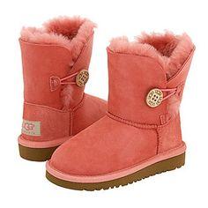 の♪♫ UGG Bailey Button Kids Boot 5991 Pink ,…✪… Prepared For this Christmas Holiday`.