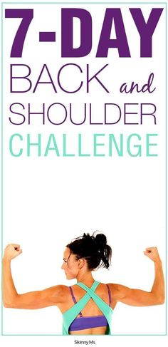 Workout Routines For The Gym : – Image : – Description The 7 Day Back and Shoulder Challenge offers something we all would love to have, a sculpted back and shoulders, minus the extra fat. Fitness Diet, Fitness Motivation, Health Fitness, Rogue Fitness, Fitness Goals, Zumba, Back And Shoulder Workout, Peau D'orange, I Work Out