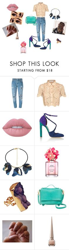 """Untitled #42"" by almasa96 ❤ liked on Polyvore featuring Levi's, self-portrait, Lime Crime, Brian Atwood, Marni, Marc Jacobs, Foley + Corinna and Christian Louboutin"