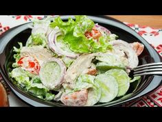 Healthy Salad Recipes, Low Carb Recipes, Salad Bowls, Fresh Rolls, Lettuce, Food Videos, Healthy Lifestyle, Food And Drink, Health Fitness