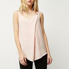 Light pink ring detail cami - cami / sleeveless tops - tops - women